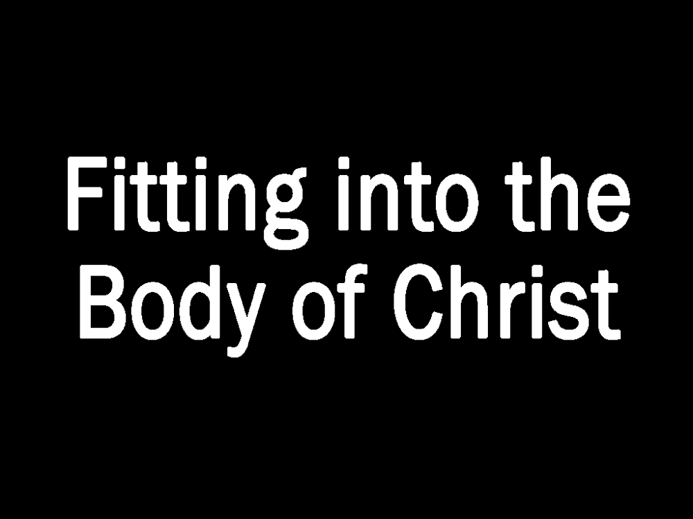 Fitting into the Body of Christ Image