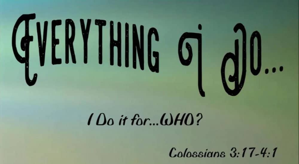 Everything I Do - I do it for WHO? Image